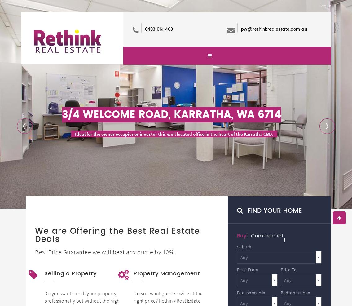 Rethink RealEstate – Australian Property portal