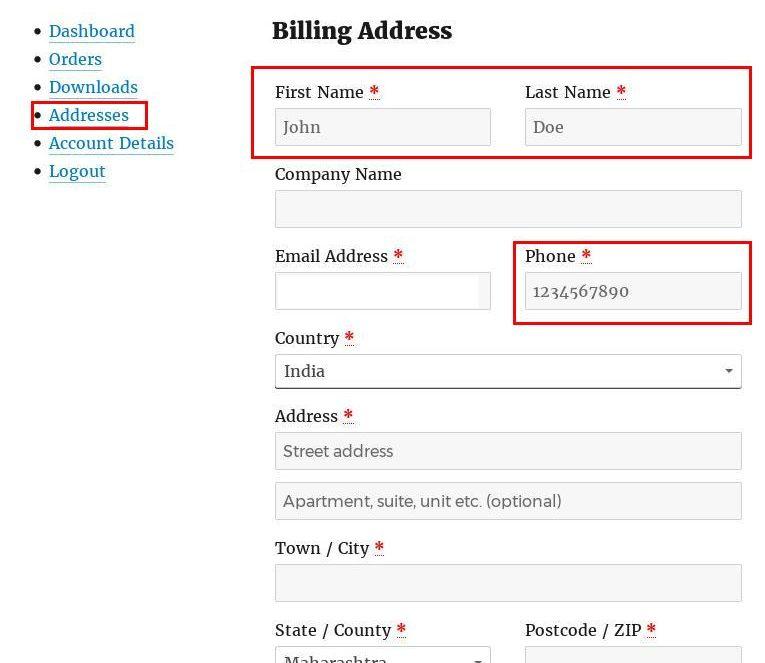 my-account-edit-address-fields-wocommerce